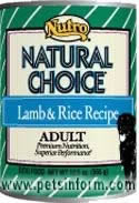 NUTRO CHOICE LAMB & RICE RECIPE